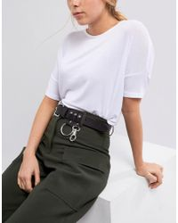 Weekday - Leather Belt With Ring Detail - Lyst