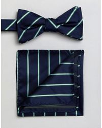 SELECTED - Bow Tie & Pocket Square - Lyst