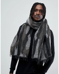 Antony Morato - Blanket Scarf In Black With Camo Print - Lyst