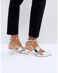 Office - Maple Metallic Kitten Heel Shoes - Lyst