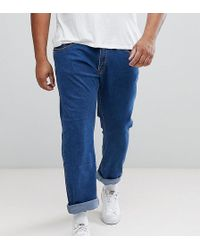 Liquor N Poker - Plus Mid Blue Abrasions Ankle Grazer Slim Jeans - Lyst