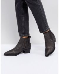 SELECTED - Leather Embossed Chelsea Boot - Lyst