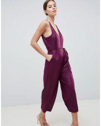AX Paris - Culotte Jumpsuit - Lyst