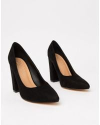 Truffle Collection - Wide Fit Pointed Block Heels - Lyst