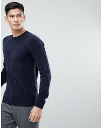 Mango - Man Chenille Jumper In Navy - Lyst