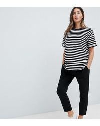 ASOS - Asos Design Maternity Over The Bump Basic Jersey Smart Skinny Trousers - Lyst