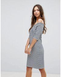 Lavand - Stripe Bardot Dress - Lyst