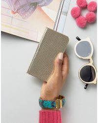 New Look - Metallic Perforated Iphone Purse - Lyst