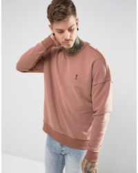 Religion | Dropped Shoulder Sweatshirt With Raw Seam | Lyst