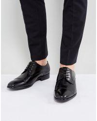 ALDO - Galerrange Derby Leather Shoes In Black - Lyst