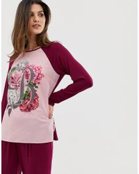 Ted Baker - B By Palace Gardens Floral Print Long Sleeve Pyjama Top - Lyst