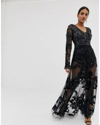 f53c366a5 A Star Is Born Bridal Embellished Midaxi Dress With Tassel Hem in ...