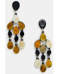 ASOS - Drop Earrings In Resin Shape Design - Lyst