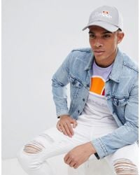 Ellesse - Volo Baseball Cap With Small Logo In Grey - Lyst