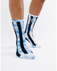 Huf - Bad Referee Striped Socks In Blue - Lyst