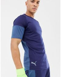 PUMA - Football Graphic T-shirt In Navy 655783-03 - Lyst