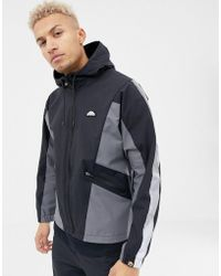 Ellesse - Mannio Track Jacket With Reflective Sleeve Stripe In Black - Lyst