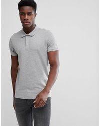 SELECTED - Polo With Concealed Placket - Lyst