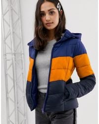 ONLY - North Retro Sporty Tube Quilted Jacket With Hood - Lyst
