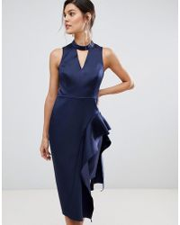 Coast - Carlotta Asymettric Layered Hem Dress - Lyst
