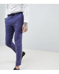Heart & Dagger - Skinny Suit Trousers In Linen - Lyst