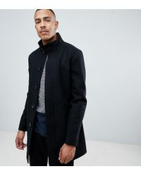 French Connection - Tall Wool Blend Funnel Neck Coat - Lyst