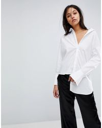 Gestuz - Long Shirt With Asymmetric Detail - Lyst
