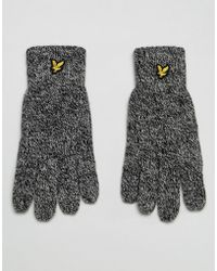 Lyle & Scott - Logo Glove In Black - Lyst