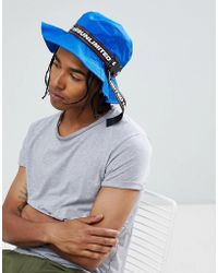 ASOS - Bucket Hat In Cobalt Blue With Taping Detail - Lyst