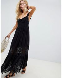 Free People - Caught Your Eye Tiered Lace Maxi Dress - Lyst