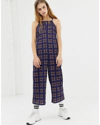 Daisy Street - Cami Jumpsuit In Vintage Check - Lyst