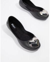 Zaxy - Heart Flat Shoes - Lyst