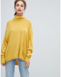 Pieces - Roll Neck Jumper - Lyst