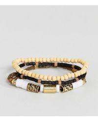 Classics 77 - Wood & Cord Bracelet In 3 Pack - Lyst