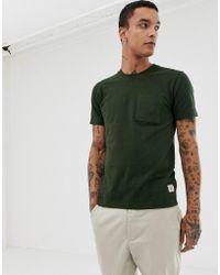 8ebe0f3c Nudie Jeans Nudie T-shirt Raw Hem Organic Slub in Gray for Men - Lyst
