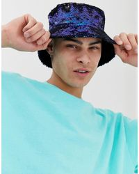 2fbaf380b7ef45 ASOS Festival Reversible Bucket Hat In Vintage Festival Print for ...