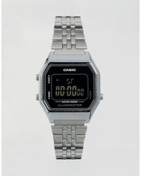 G-Shock - La680wea Mini Digital Black Face Watch - Lyst