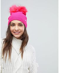 Ted Baker - Double Pom-pom Hat - Lyst