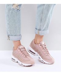 nike air max 95 premium trainers in pink