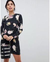 Oh My Love - Floral Long Sleeve Dress - Lyst