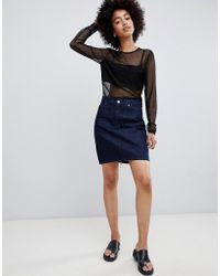 Dr. Denim - Denim Mini Skirt In Raw Wash - Lyst