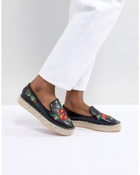 Truffle Collection - Embroidered Espadrille - Lyst