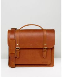 Forbes & Lewis - Leather Satchel In Vintage Leather 15inch - Lyst