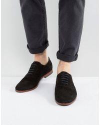 ALDO - Coallan Derby Shoes In Black Suede - Lyst