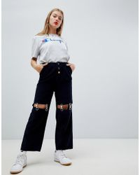 ASOS - Cord Trousers With Detachable Metal Suspenders - Lyst