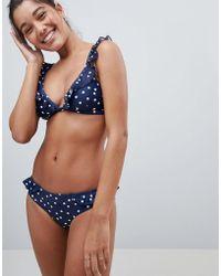 Warehouse - Polka Dot Frill Bikini Bottoms - Lyst
