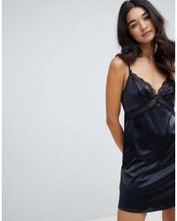 DORINA - Savannah Satin Slip Dress - Lyst