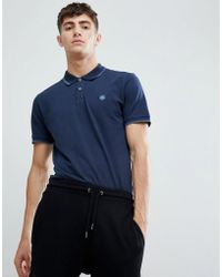 Pretty Green - Tipped Polo In Navy - Lyst