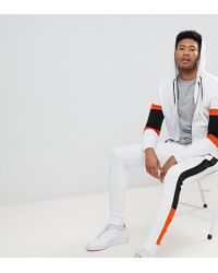 ASOS - Tall Tracksuit Zip Up Hoodie With Color Blocking/ Super Skinny Jogger - Lyst