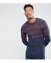 Another Influence - Tall Jacquard Block Knitted Jumper - Lyst